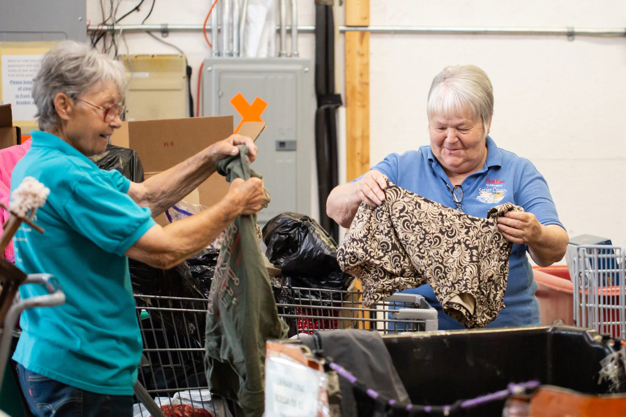 <b>Thrift Store</b><br> There are several ways that you can help in our thrift store. Thrift store volunteers act as cashiers, pricers, stockers and are responsible for sorting clothing and household items.